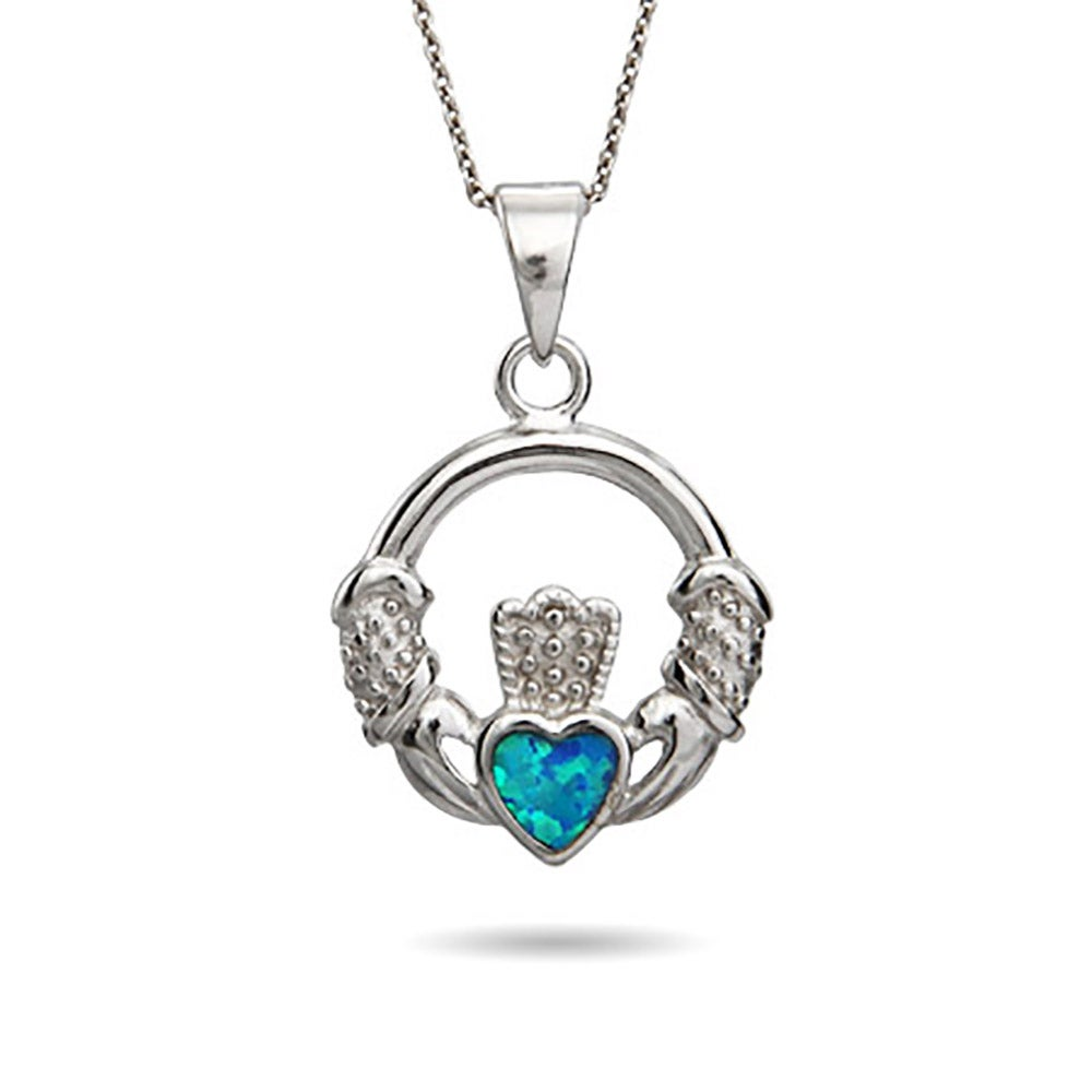 pendant gallery sterling silver lyst necklace jewelry s us swarovski in macy crystal over gold product normal macys claddagh