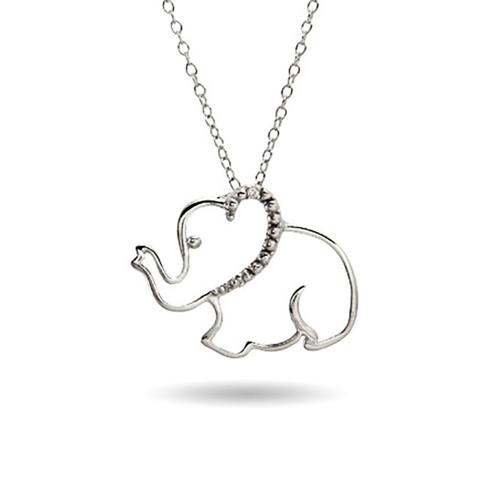 diamonds evan with anniversary pendant elephant prod p necklace mu sydney