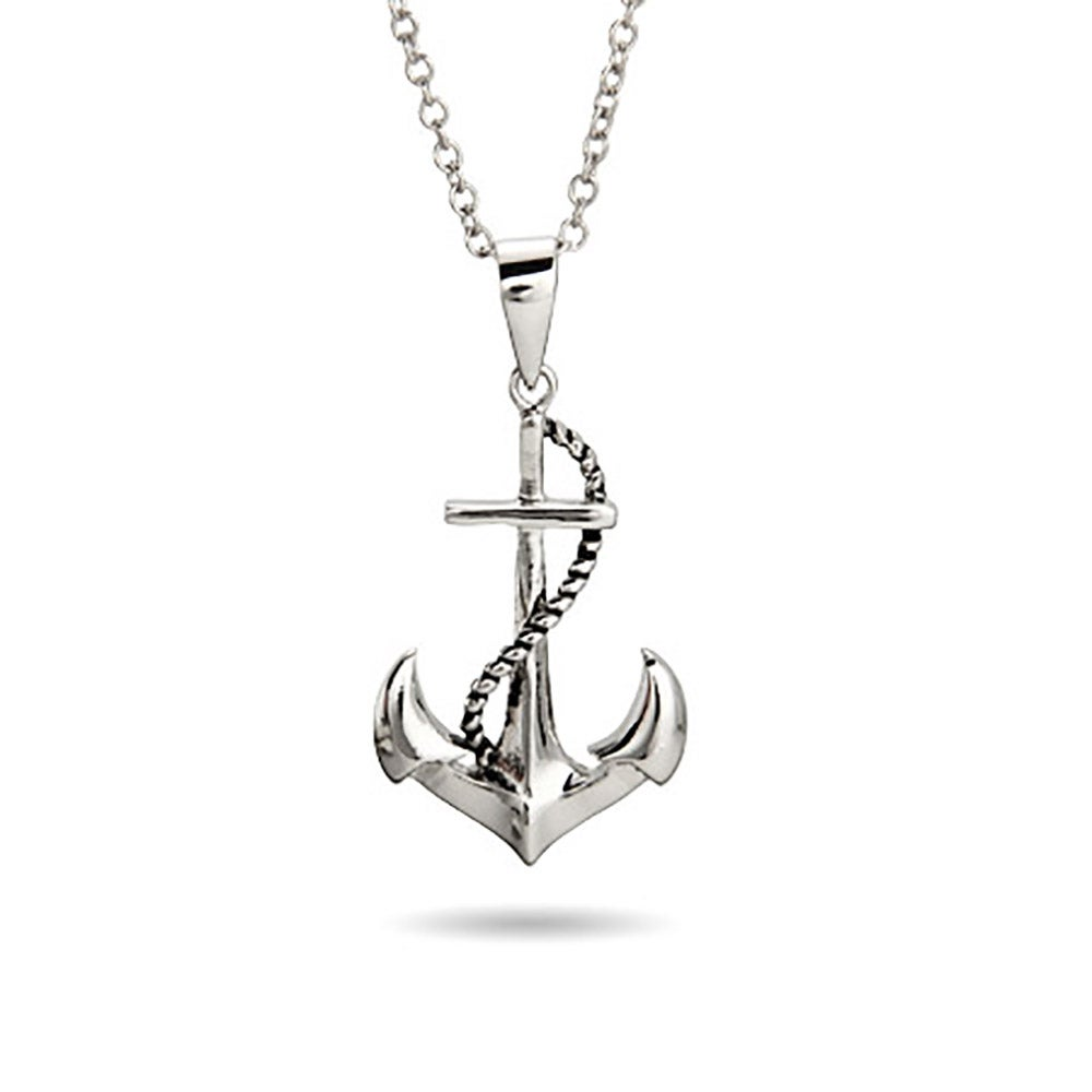 Sterling silver sailors necklace eves addiction sterling silver sailors anchor pendant aloadofball Gallery