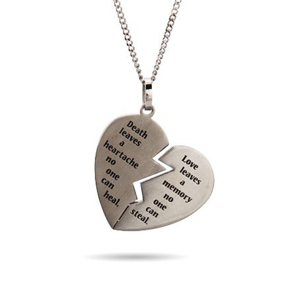 Engravable broken heart bereavement pendant aloadofball Choice Image