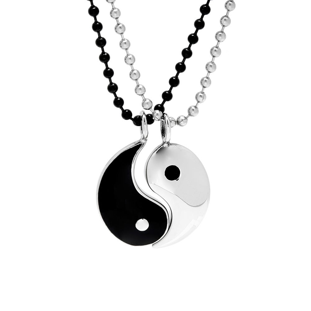 Yin Yang Symbol Pendant Necklace with Engraving- Custom Made with Any Name! Hqy6N