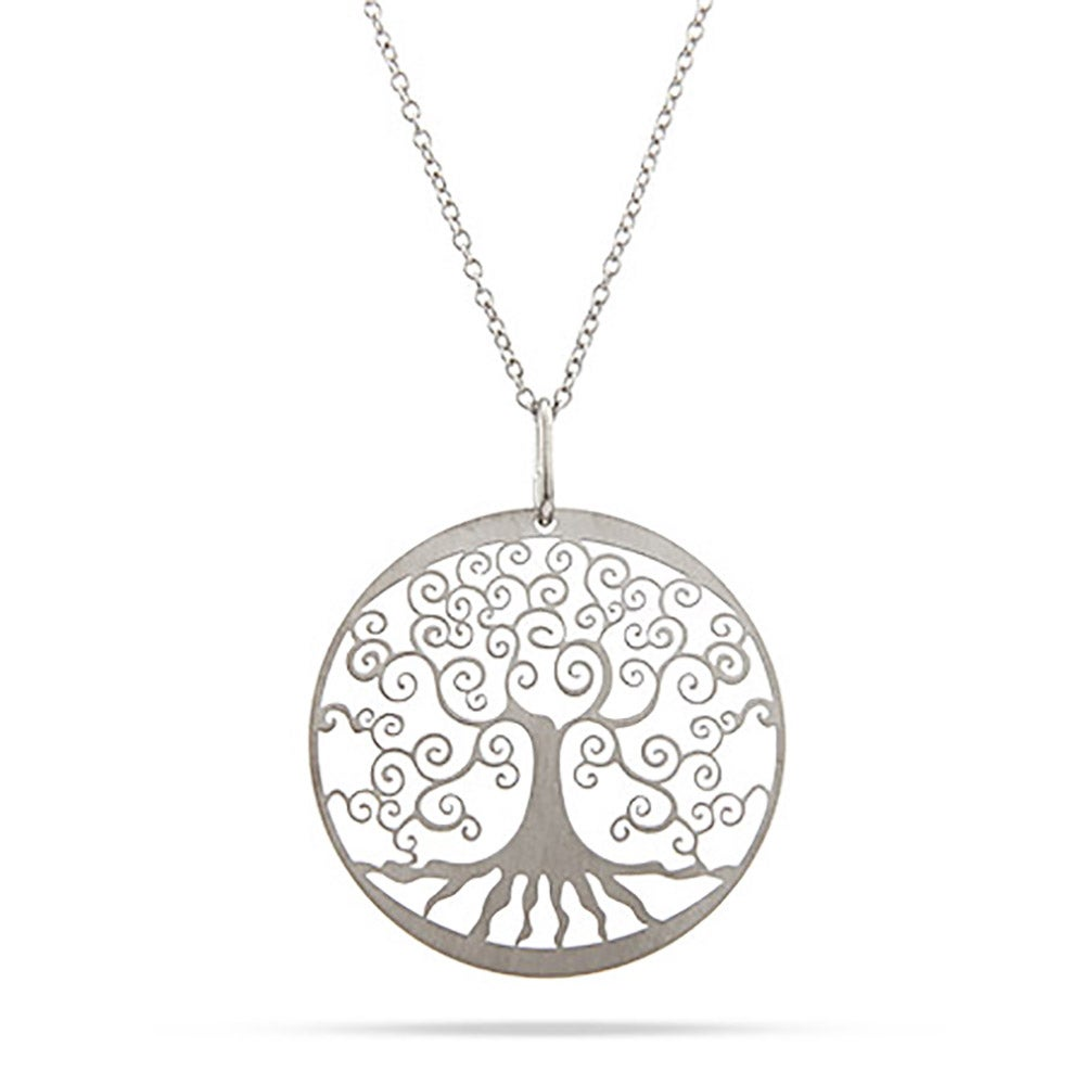 silver thumbnail tree life of necklace seasons pendant four product