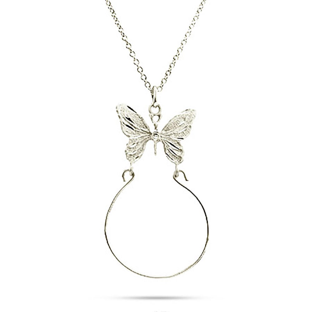 Butterfly ring and charm holder sterling silver butterfly ring and charm holder mozeypictures Gallery
