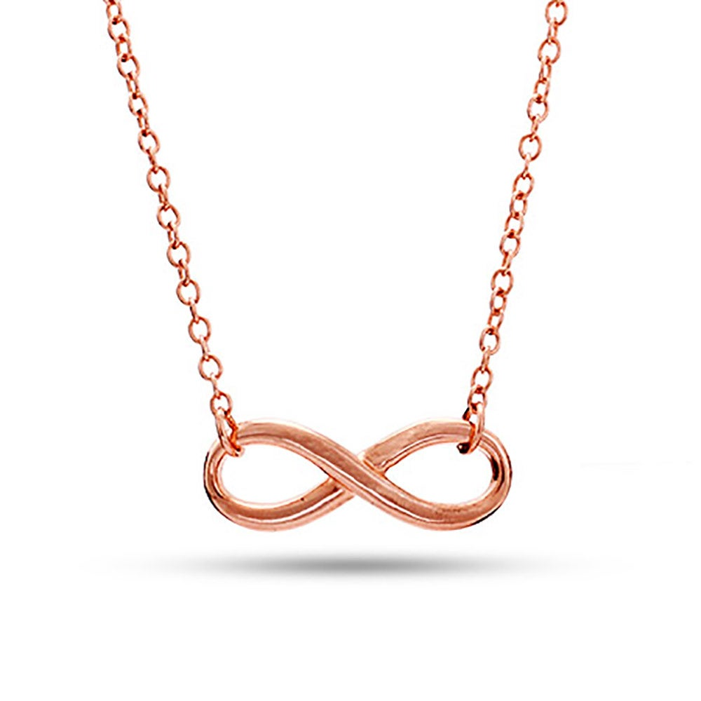 Rose Gold Infinity Necklace Eves Addiction