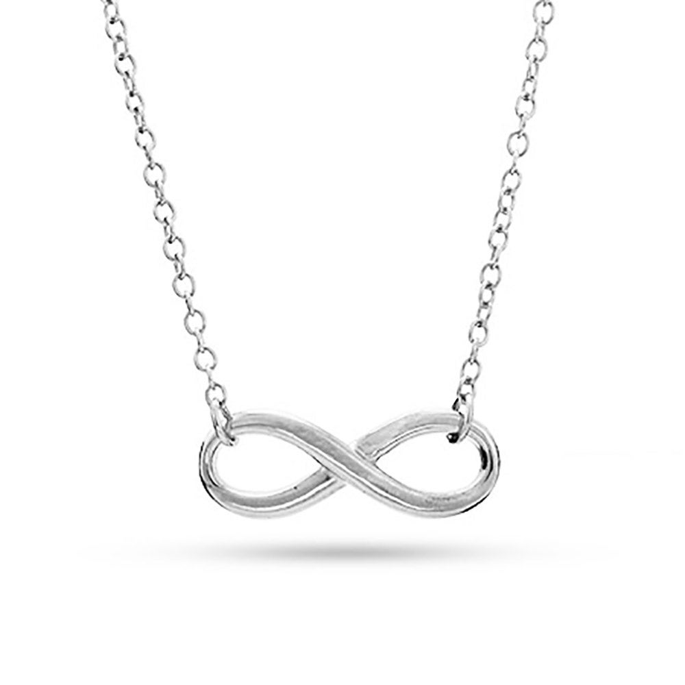 Personalized infinity necklace eves addiction designer style sterling silver infinity symbol necklace biocorpaavc Image collections