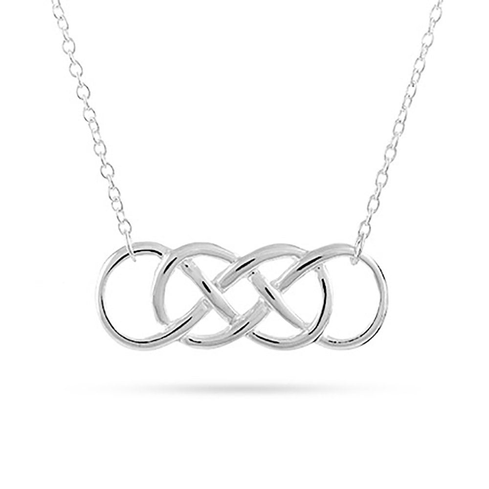 silver double infinity symbol necklace. Black Bedroom Furniture Sets. Home Design Ideas