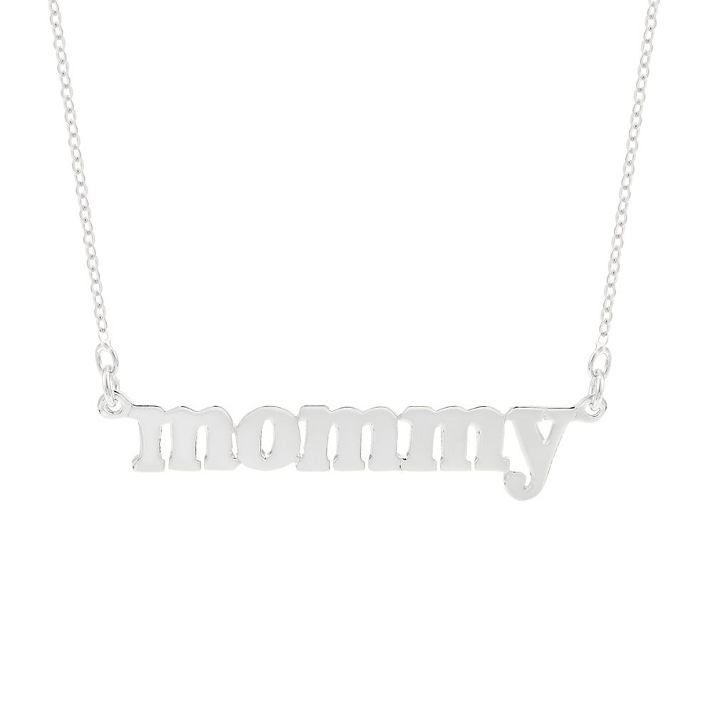 Silver mommy necklace eves addiction sterling silver mommy necklace eves addiction aloadofball Gallery