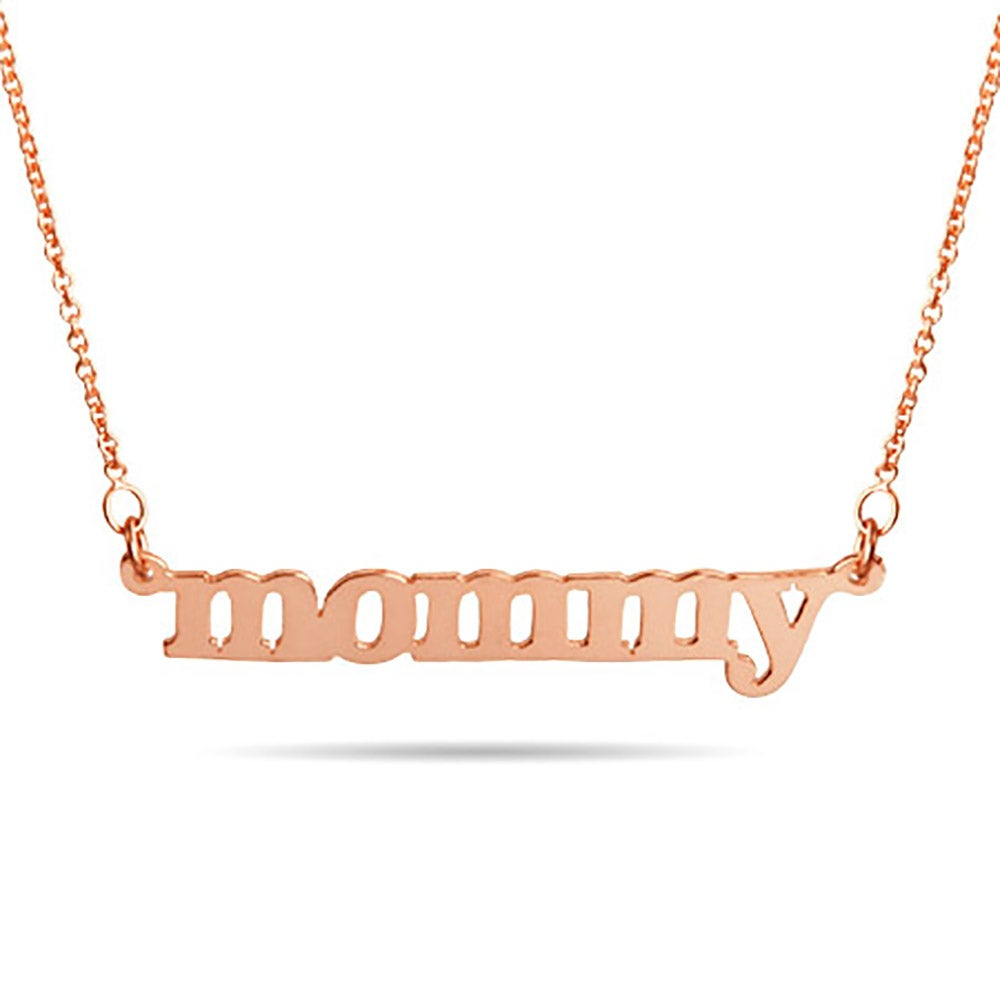 Gold vermeil mommy necklace rose gold mommy necklace aloadofball Gallery