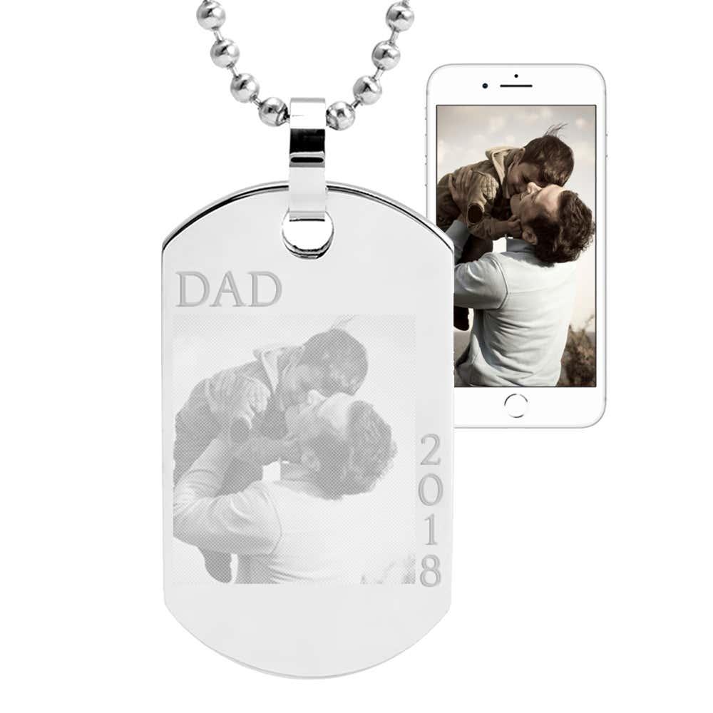 793a77c5f83da Custom Father's Day Photo Dog Tag Necklace