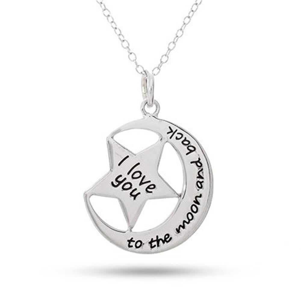 I Love You to the Moon and Back Necklace xzSqE8HlE