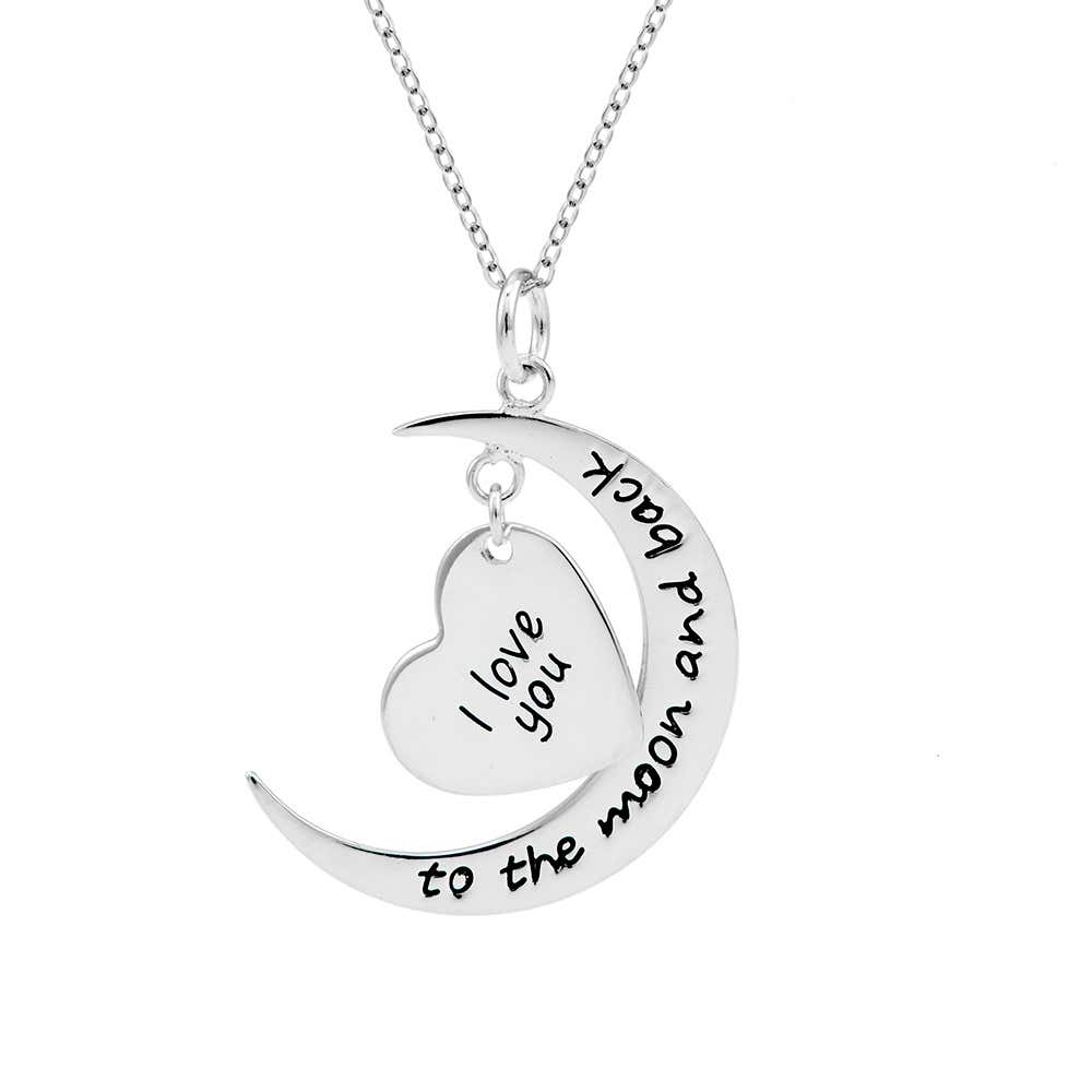 Personalized I Love You To The Moon and Back Necklace ...