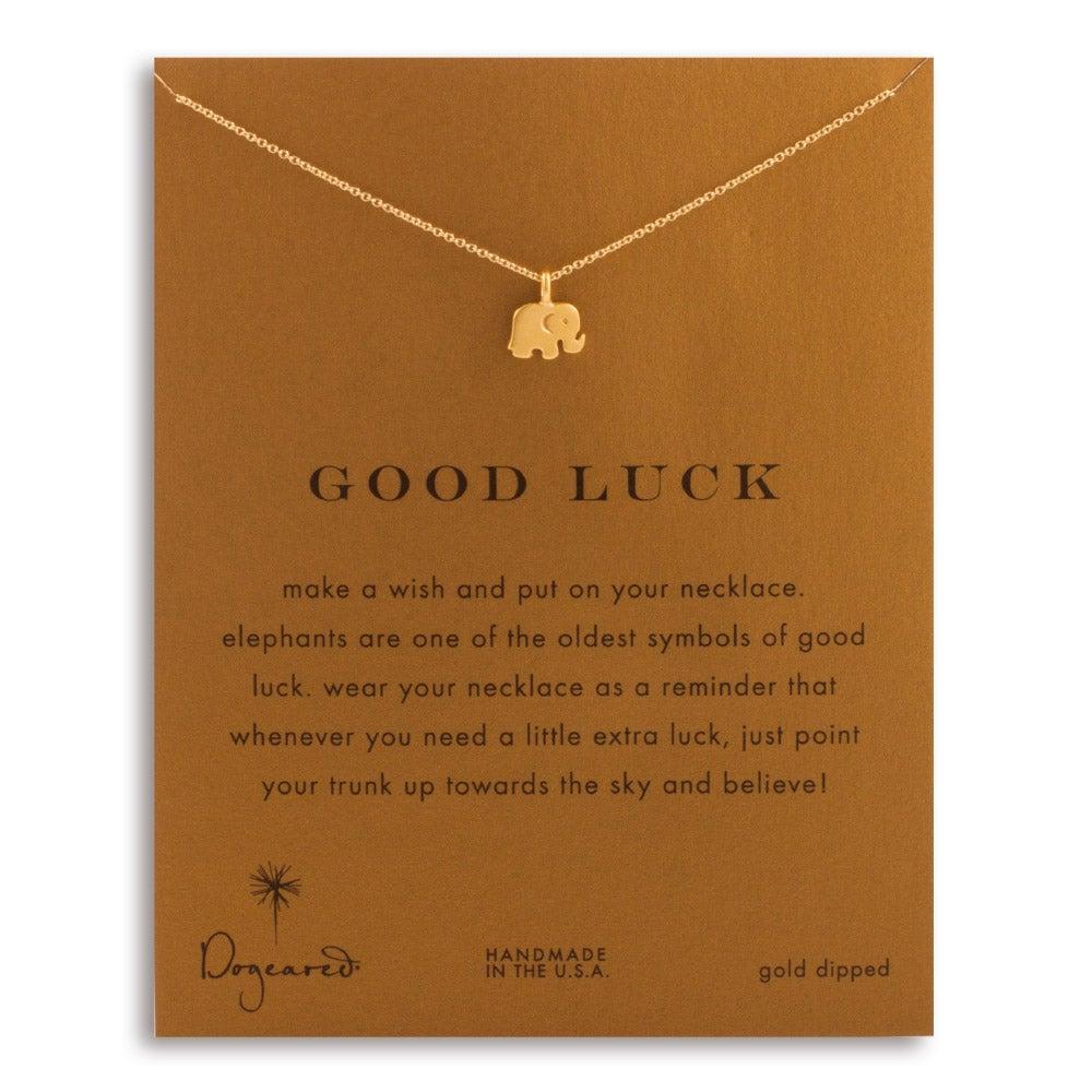 Good luck elephant gold necklace dogeared good luck elephant gold dipped necklace biocorpaavc