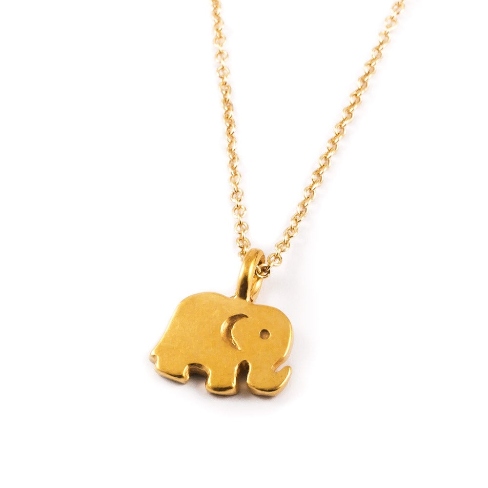 Well-known Dogeared Good Luck Elephant Gold Necklace TJ33