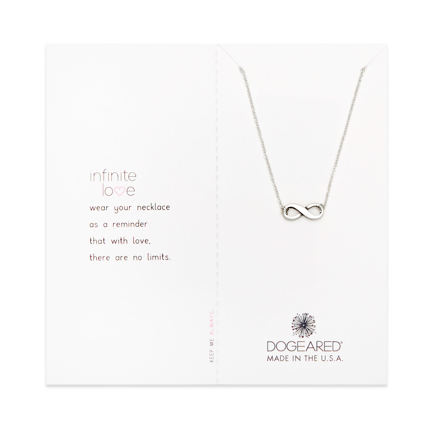 Dogeared infinite love sterling silver necklace eves addiction dogeared infinite love sterling silver necklace aloadofball Images