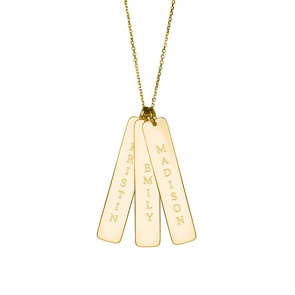 gold yellow family baker t bar pendant h vertical