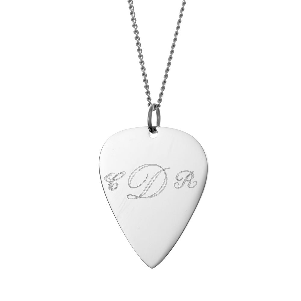 Engravable guitar pick necklace engravable guitar pick necklace hover to zoom aloadofball Image collections