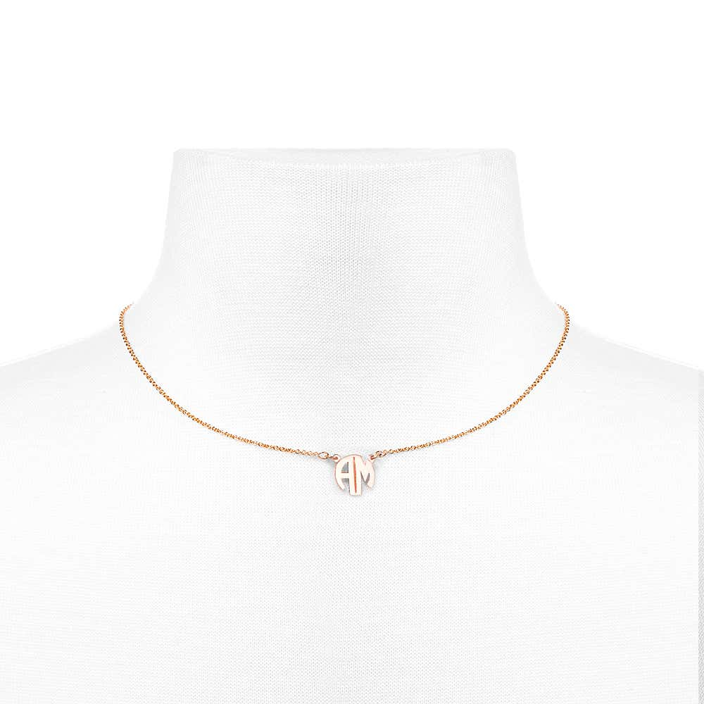d87d6d46c Two Letter Block Style Rose Gold Monogram. Double Tap To Zoom