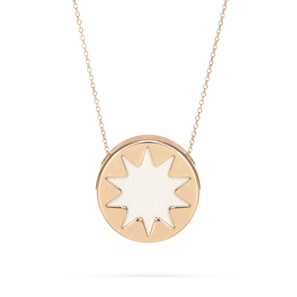 of the double pave sunburst necklace harlow final scene shop house