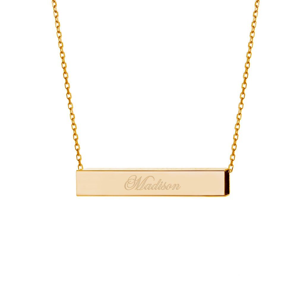 metallic rose ginette ny gold pendant normal square jewelry pink product in lyst necklace