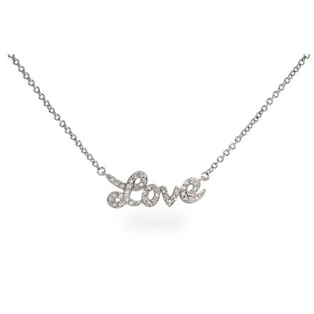 alphabet necklace product cursive j initial letter sterling cz detail silver