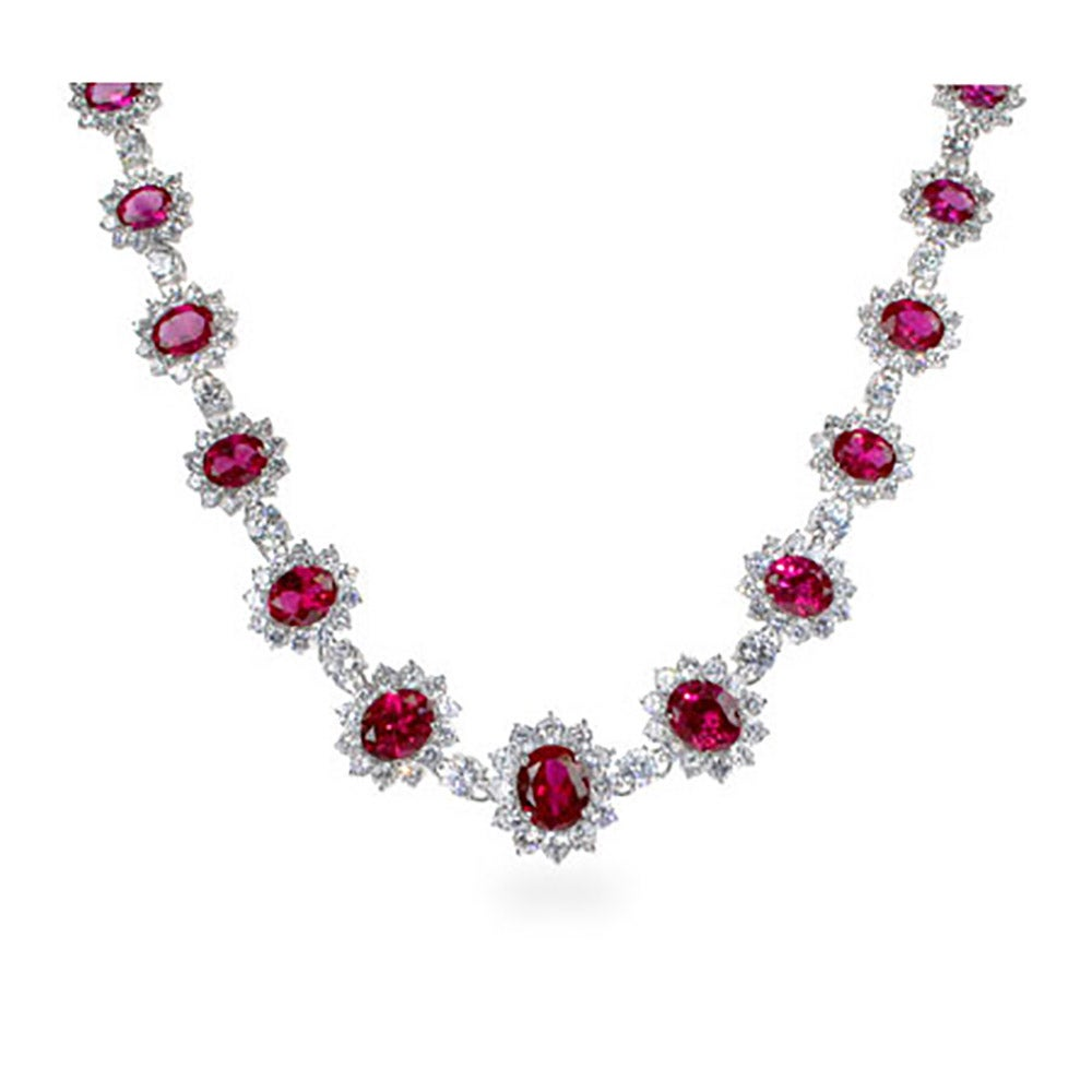 product necklace royal collection the fire red ruby design