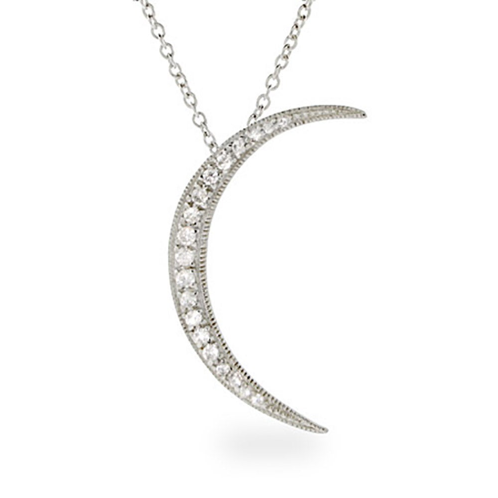 image influence female pendant necklace moon necklaces muru crescent vermeil mini gold