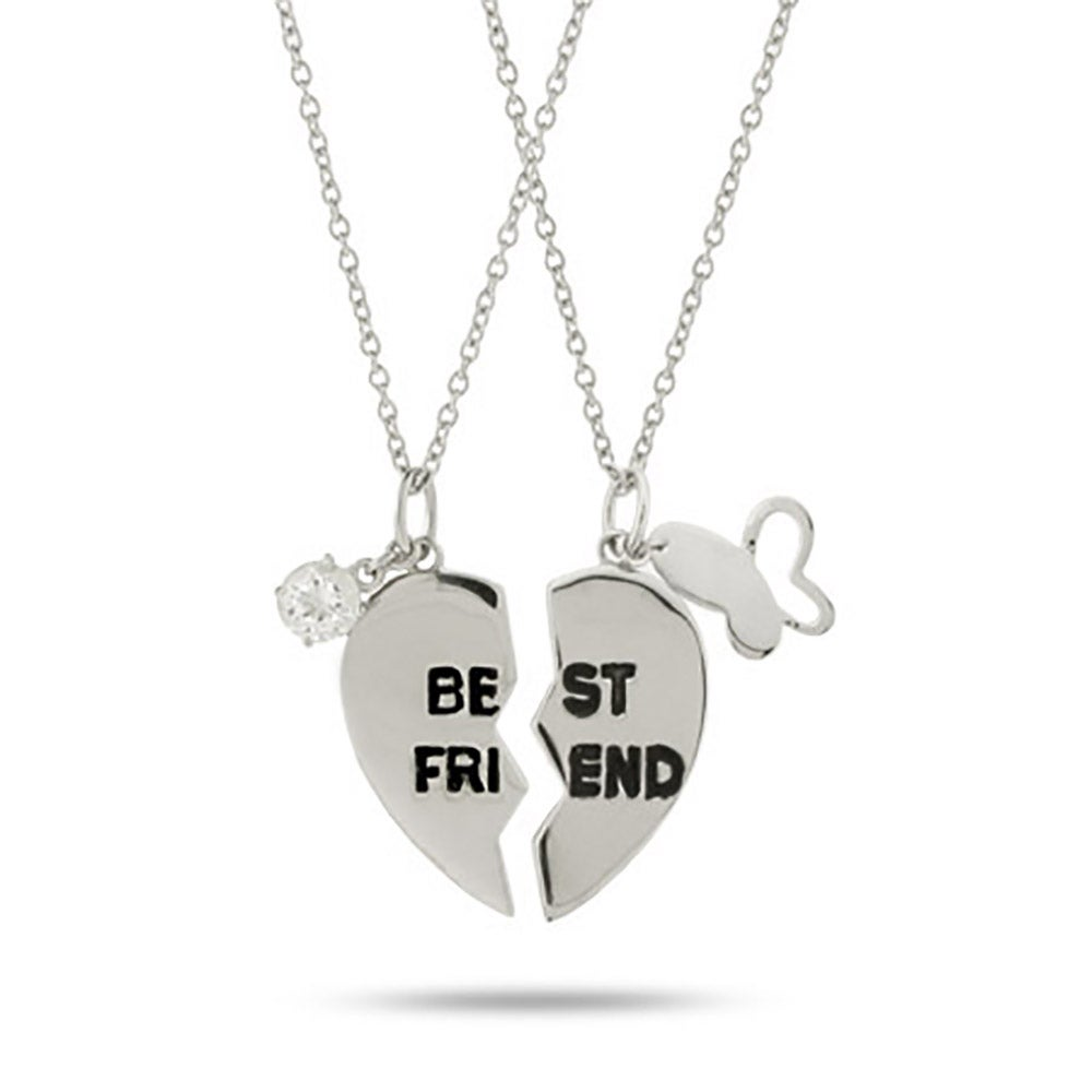 best friend pendant pizza friends chain low amazon jewellery lockets online gifts friendship set in silver generic at india prices buy store dp slice necklace