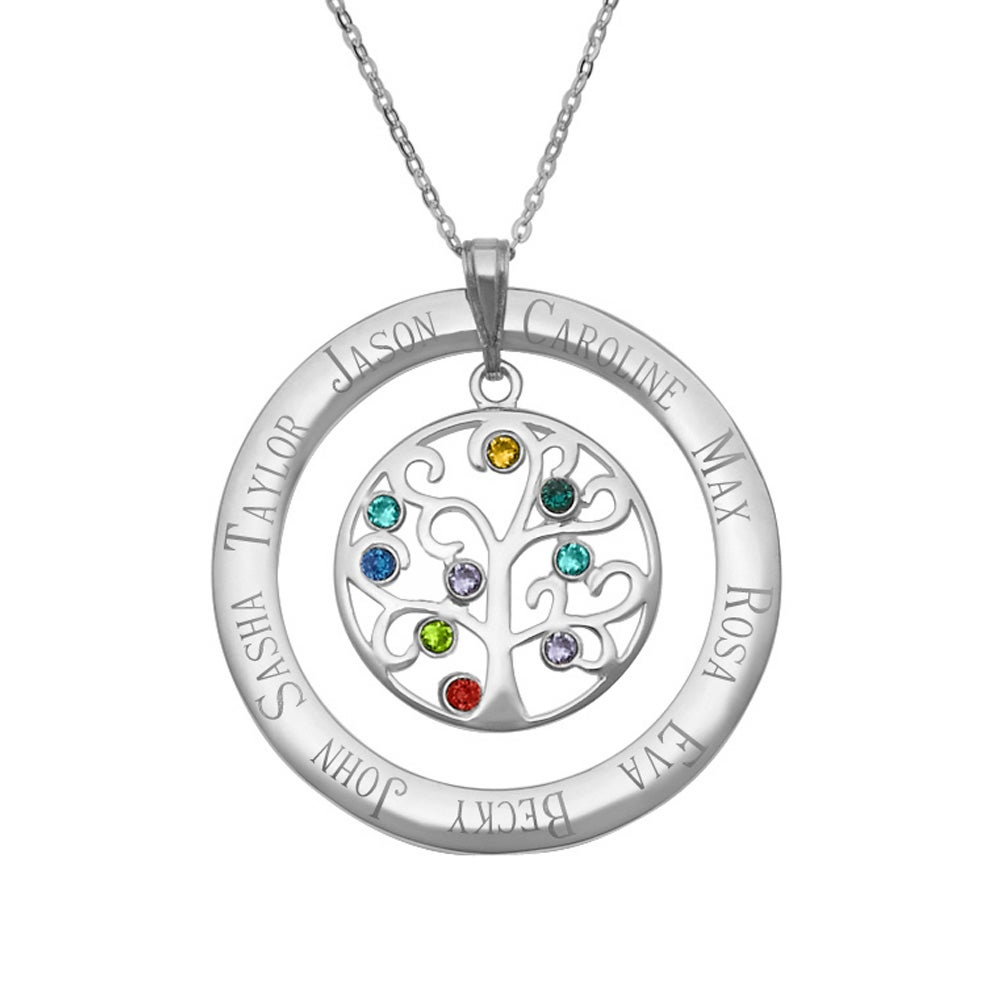 9 stone personalized birthstone crystal family tree necklace eves 9 stone personalized birthstone crystal family tree necklace eves addiction aloadofball Gallery