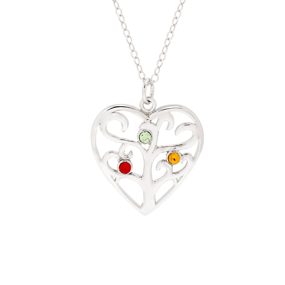 ci kaya uk s jewellery circles necklace with silver sterling mum birthstone birthstones three