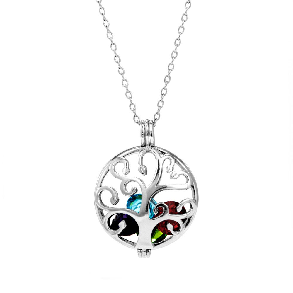 tree necklace jewelry life inspirational lockets pendant pfs sterling par of bling silver