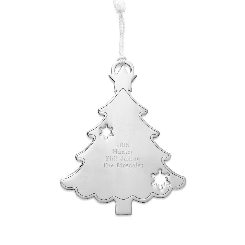 Engravable Christmas Tree Metal Ornament