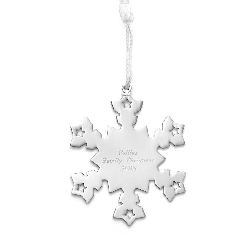 personalized snowflake metal ornament - Metal Christmas Ornaments