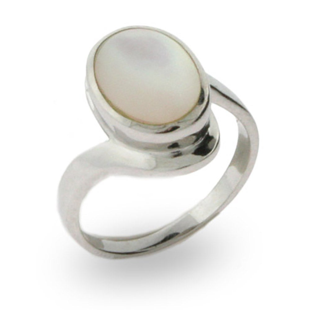 Favorite Vampire Inspired Sterling Silver Ring with Mother of Pearl ZX93