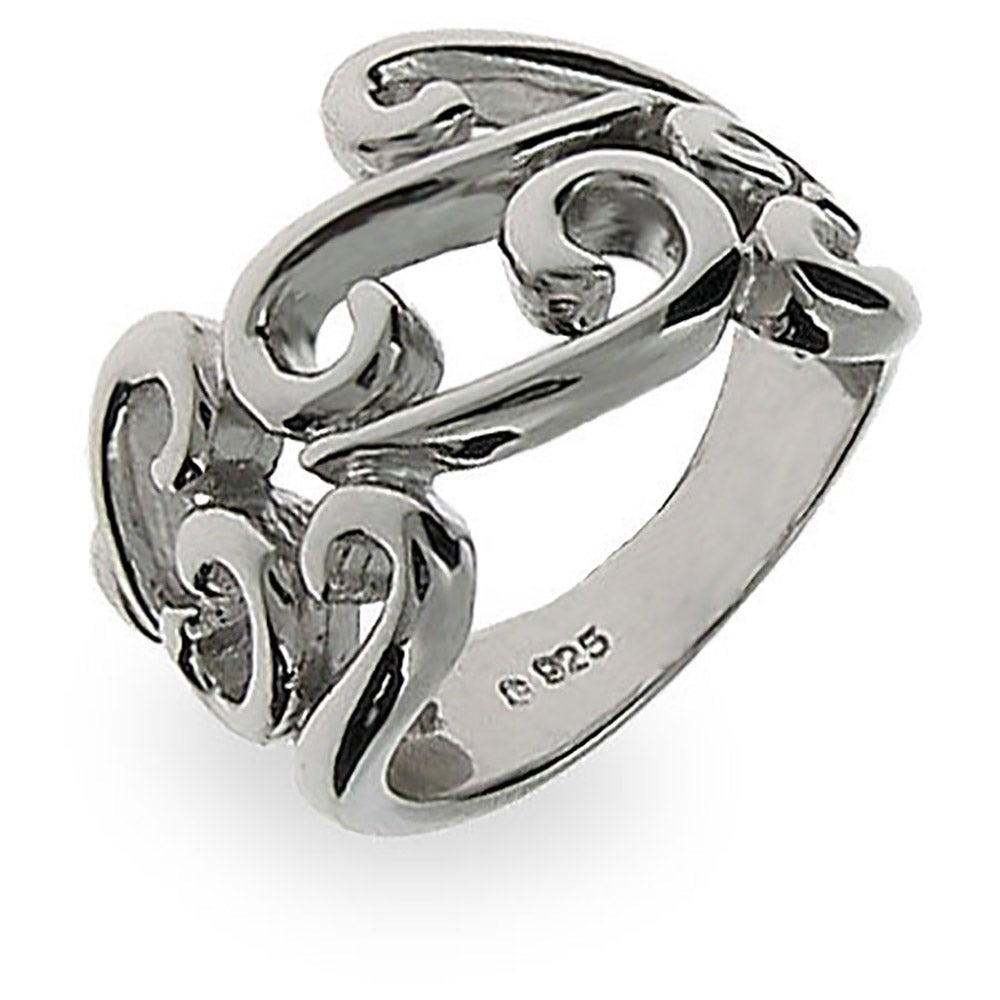 Sterling silver antique scroll ring eve 39 s addiction for The sterling