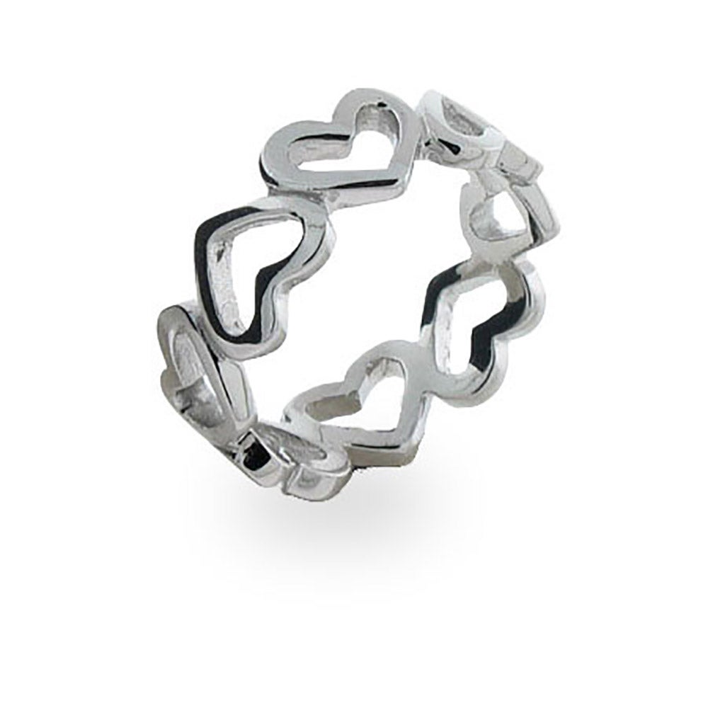 Very best Continuous Heart Ring in Sterling Silver | Eve's Addiction® TE46