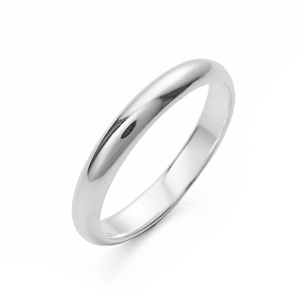classic 3mm sterling silver wedding band - Silver Wedding Rings