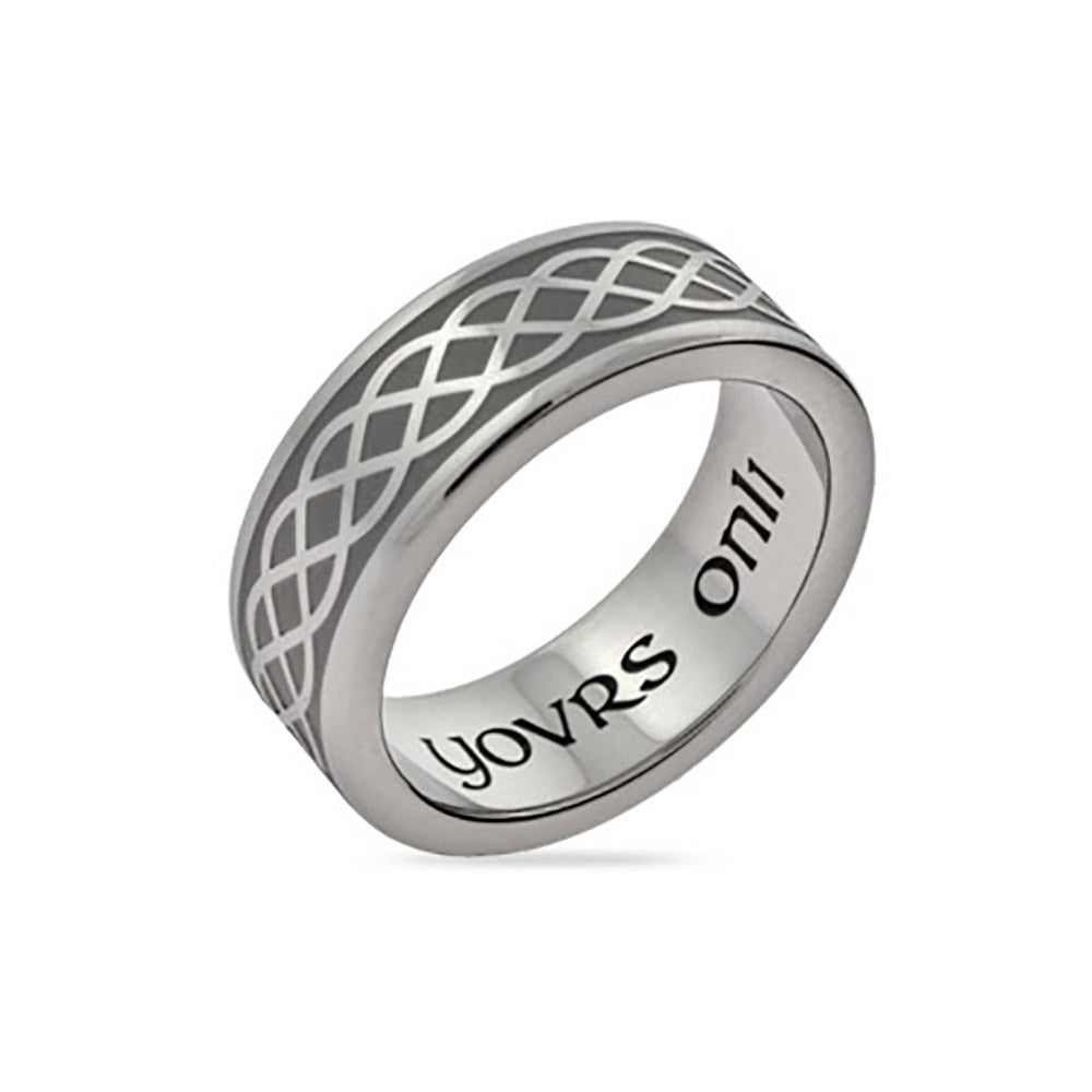 steel wedding brushed steelhammer rings spexton hammered products jewelry custom stainless ring