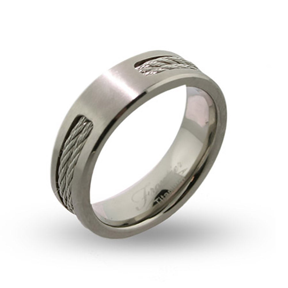 Engravable titanium signet ring for men with the history of the signet ring