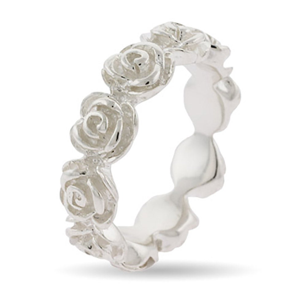 Band of Roses Sterling Silver Eternity Ring Eves Addiction