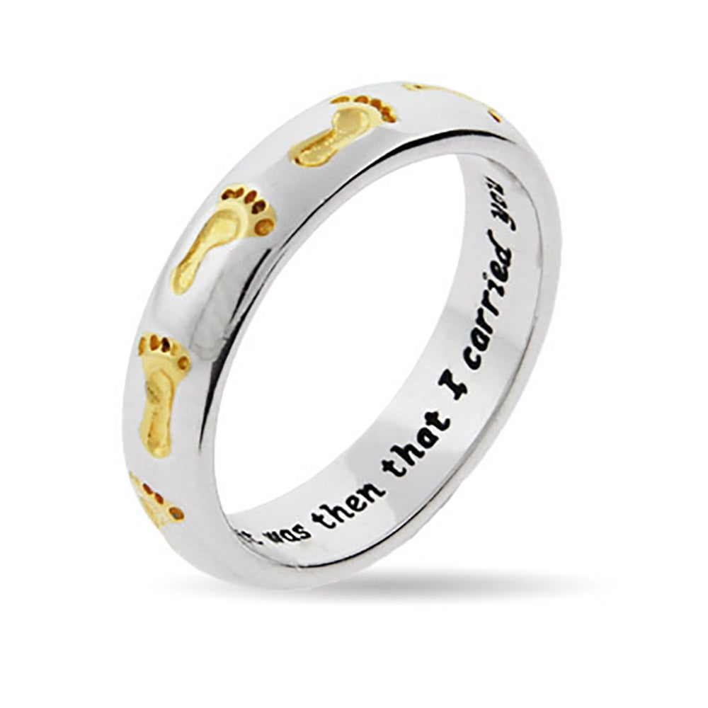 product baby rings cute footprint mother plated feet ring gift gold mom new wholesale personalized s