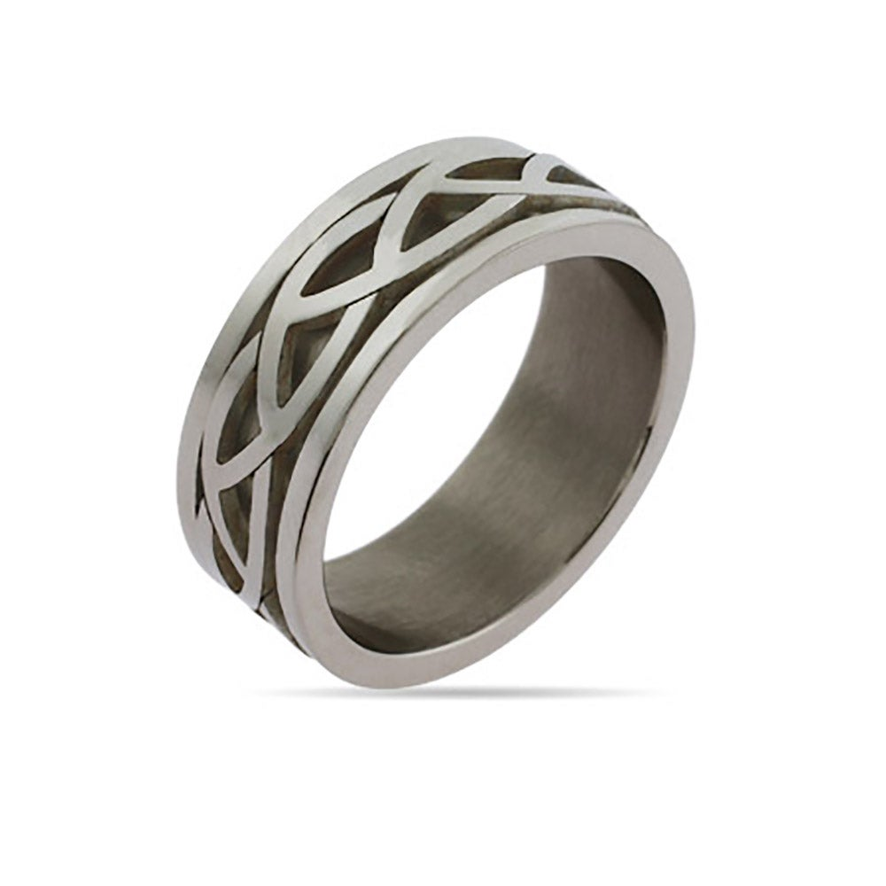 mens celtic knot engravable ring eves addiction174