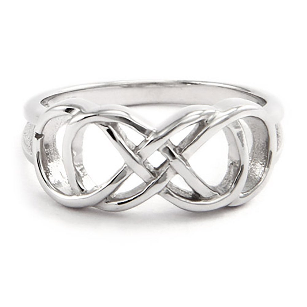 Double infinity ring in sterling silver biocorpaavc Choice Image