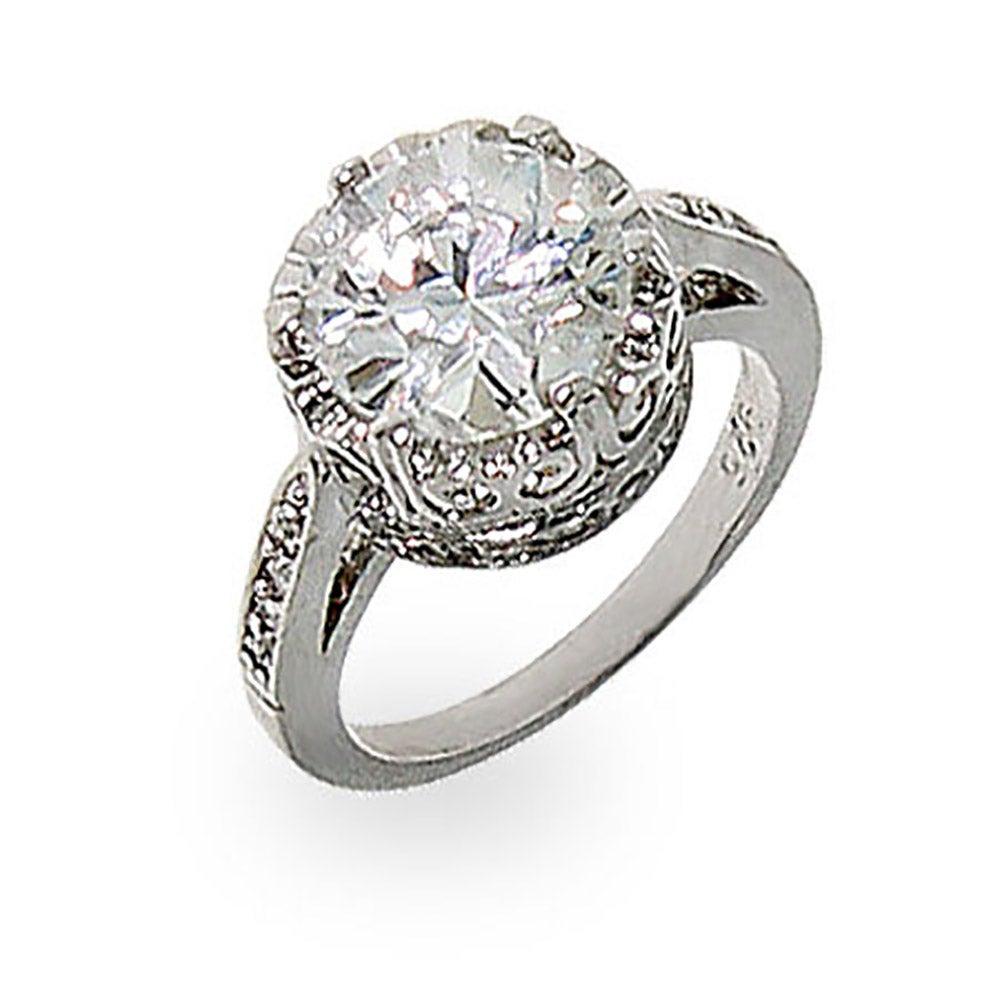 Crown Diamond Signity Star Cut Cz Ring Eve S Addiction