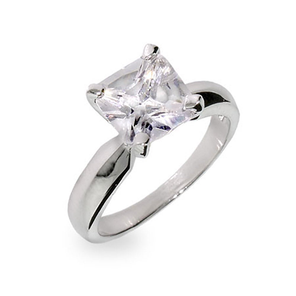 Princess cut cz engagement ring from the best cz engagement rings at Eves Addiction