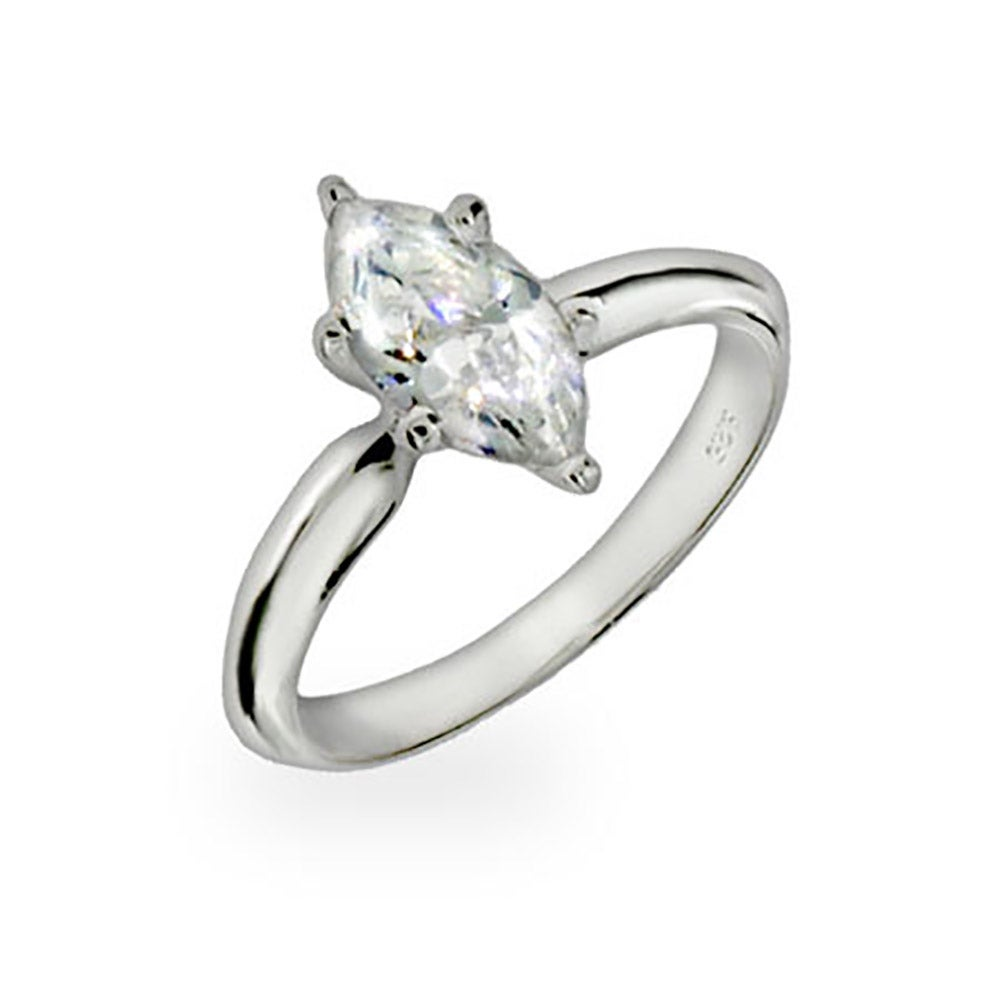 Cubic zirconia simple marquis engagement ring from Eves Addiction