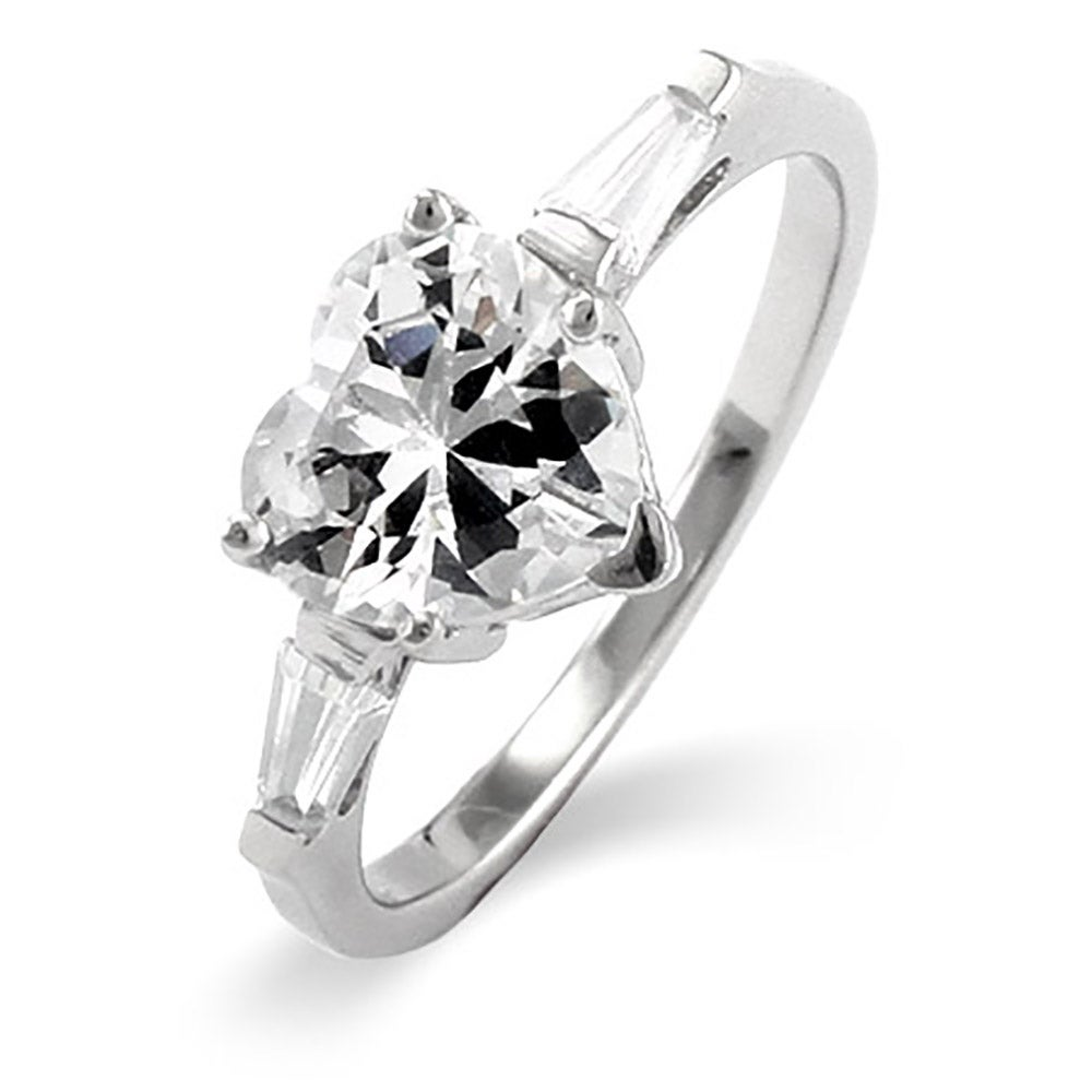 Well-known Heart Shaped CZ Sterling Silver Promise Ring | Eve's Addiction® ZL28