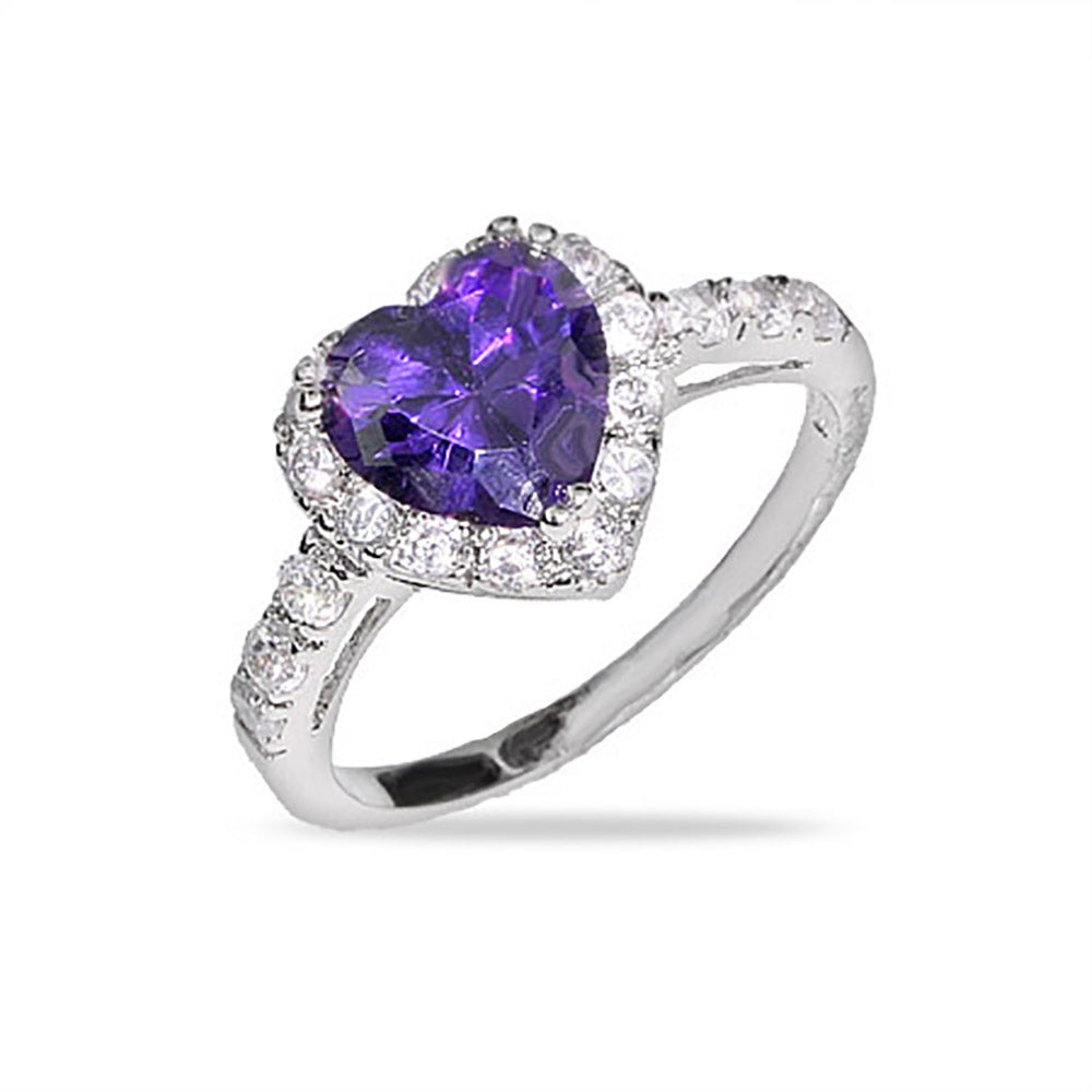 stone strand silver products rings sterling amethyst jewellery ring cubic tear front v zirconia romance and purple reverse