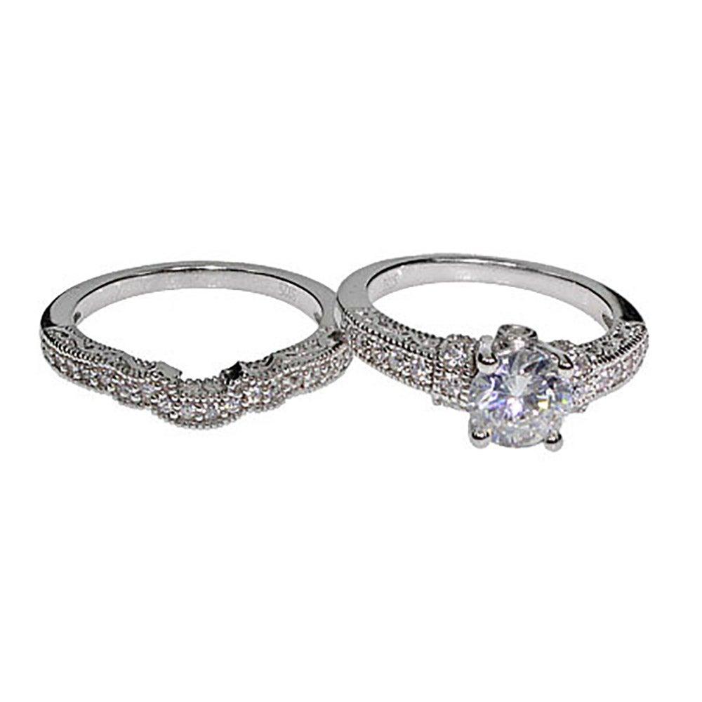 Victorian Diamond Wedding Rings