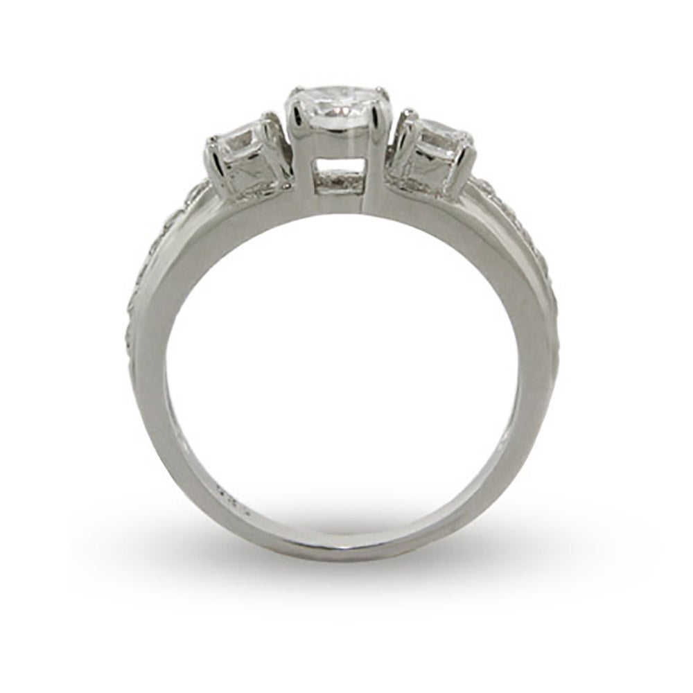 Past Present and Future 3 Stone CZ Engagement Ring Eves Addiction