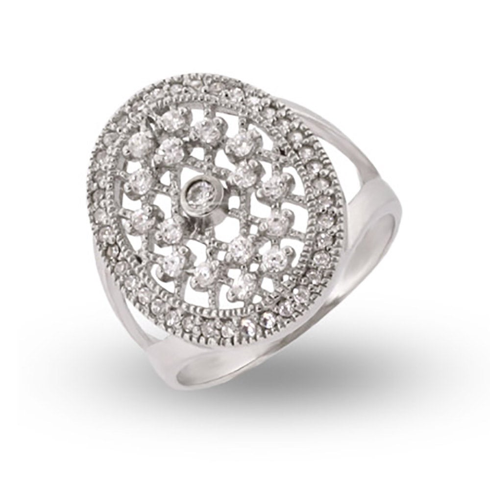 Style CZ Sterling Silver Engagment Ring Eves Addiction